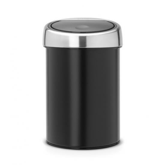 Cos gunoi Touch Bin, 3L - Negru Mat