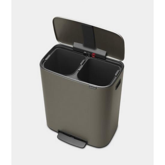 Cos gunoi Bo cu pedala, 2 x 30L - Platina