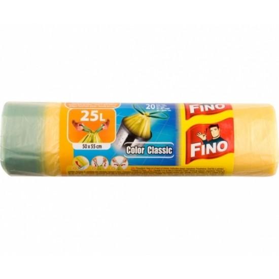 Fino Saci Gunoi Colorati Cu Snur HD 25 L