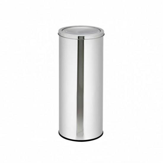 Cos inox pentru gunoi cu capac oscilant
