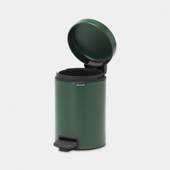 Cos gunoi cu pedala newIcon, 3L - Verde Pin