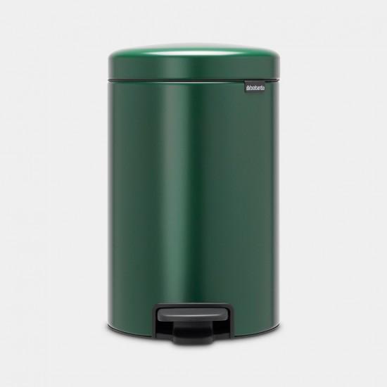 Cos gunoi cu pedala newIcon, 12L - Verde Pin