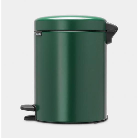 Cos gunoi cu pedala newIcon, 5L - Verde Pin