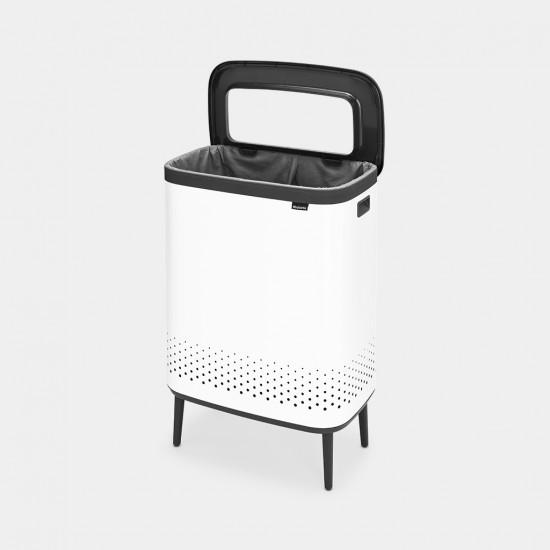 Cos rufe Bo Laundry Bin Hi, 2 x 45L, Capac plastic - alb