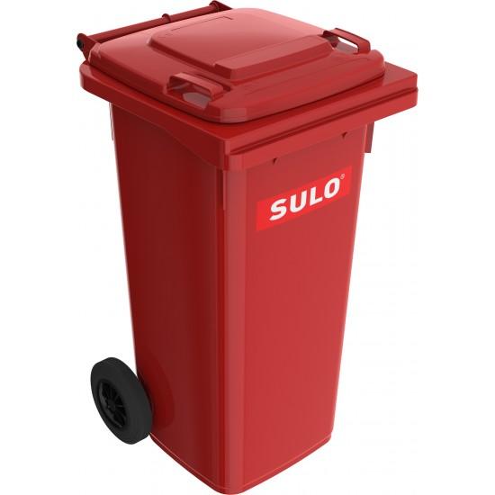 Europubela din material plastic, 120 l, culoare rosie MEVATEC - Transport inclusde la minim 2 pubele