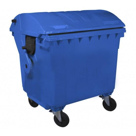 Container HDPE CLE 1100L cu capac rotund albastru