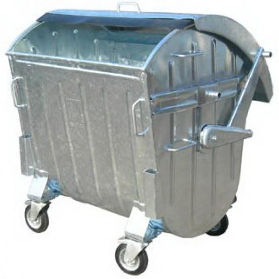 Container zincat CLA 1100 cu capac semirotund