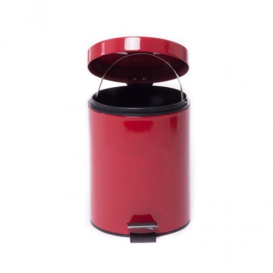 Cos gunoi 5L inox rosu Limpio