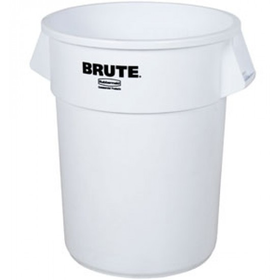 Container rotund Brute, 37.9 L, alb, RUBBERMAID