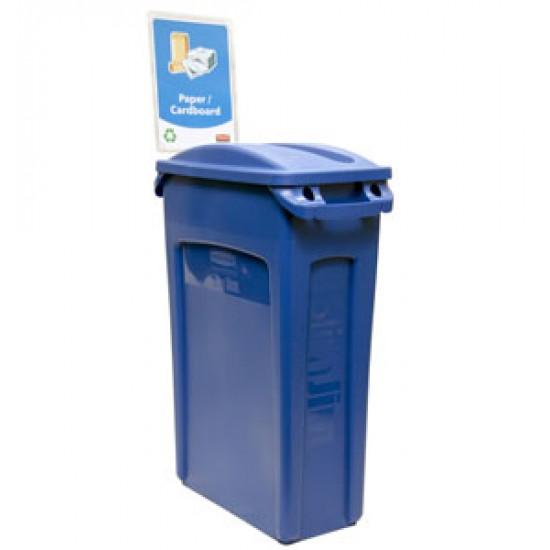 Capac deseuri amestecate pentru container Slim Jim de 87 si 60 L, albastru, RUBBERMAID