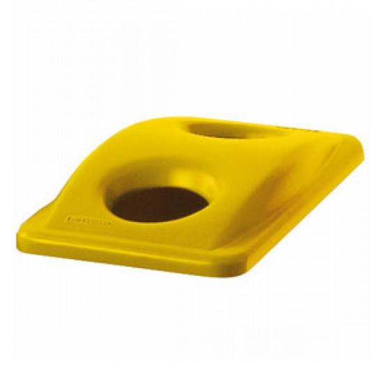 Capac deseuri sticla pentru container Slim Jim de 87 si 60 L, galben, RUBBERMAID