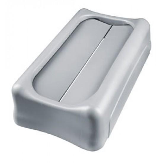 Capac Swing pentru container Slim Jim de 87 si 60 L, gri, RUBBERMAID