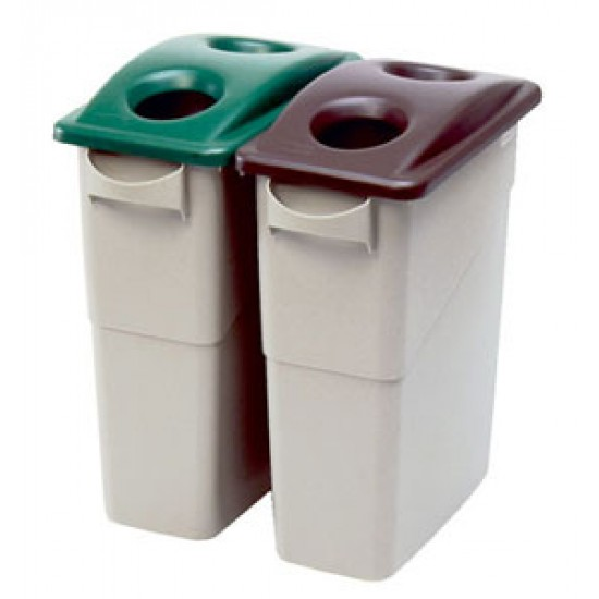 Capac deseuri sticla pentru container Slim Jim de 87 si 60 L, verde, RUBBERMAID