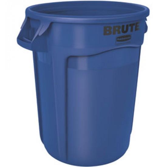 Container rotund Brute cu canale de aerisire, 75.7 L, albastru, RUBBERMAID
