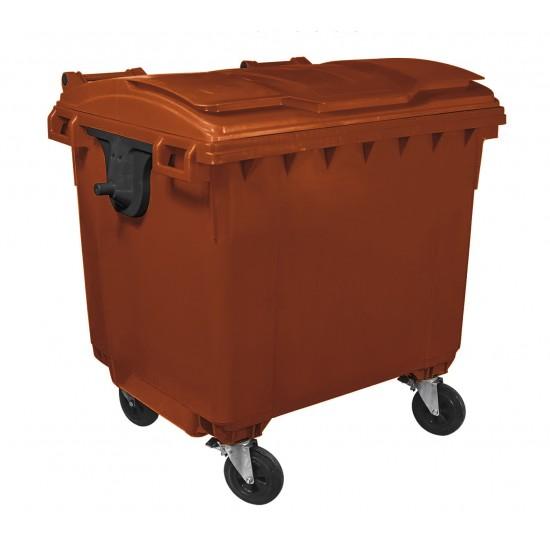 Container HDPE CLF 660L cu capac plat