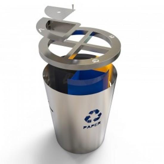 GENEVE AS Set modern pentru reciclare cu scrumiera incorporat