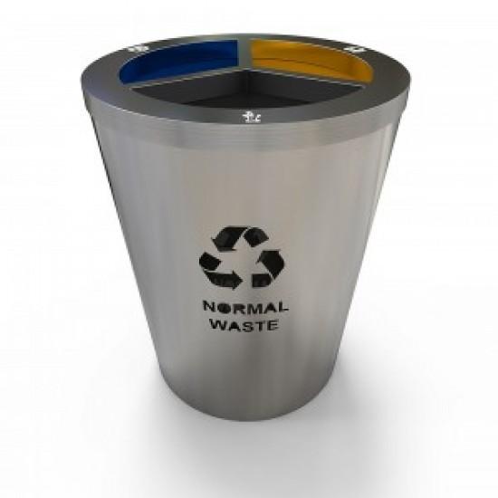 GENEVE S Set de reciclare modern 3 in 1 din otel inoxidabil