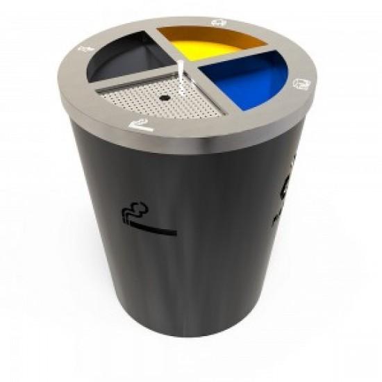 GENEVE AM Cosuri reciclare cu design modern din metal cu compartiment pentru tigari