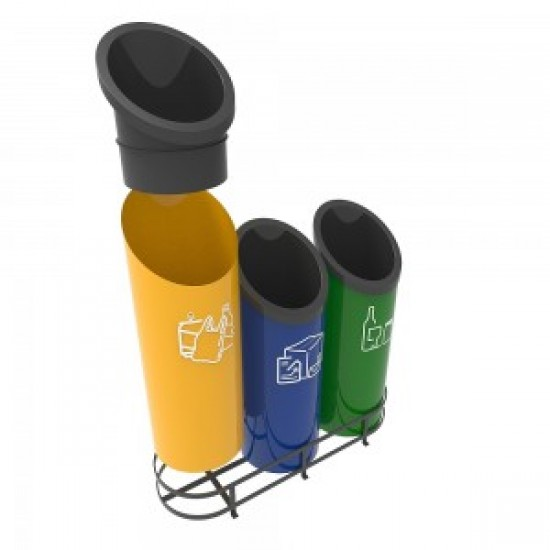 GOTHENBURG B Cosuri pentru reciclare cu design futurist pentru zonele publice