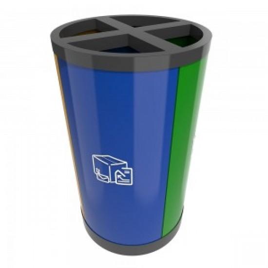 HELSINKI B Cosuri pentru reciclare cu aspect modern pentru zonele publice, 80L