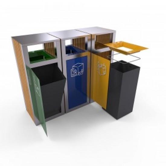 KUOKIO AS Set moderna de reciclare cu decor din lemn