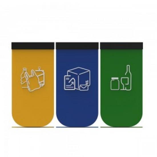 NYKOPING B Cosuri modulare pentru reciclare cu design elegant din metal