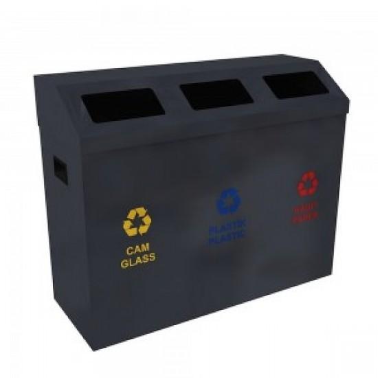 ODENSE Set de reciclare cu design robust pentru zonele publice cu trafic intens