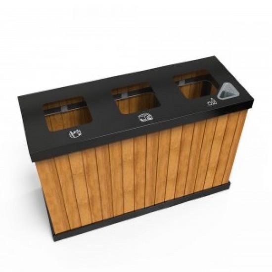 OSLO MW Cosuri din metal pentru reciclare exterioare cu mai multe compartimente