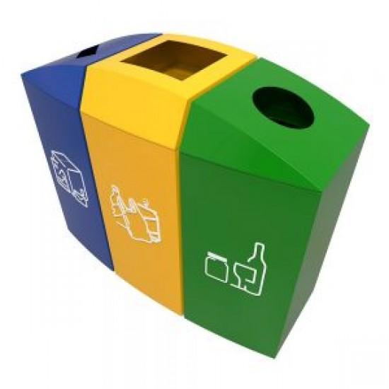 TRELLEBORG B Cosuri modulare de reciclare cu design modern pentru birouri si zone comerciale, 3x37L