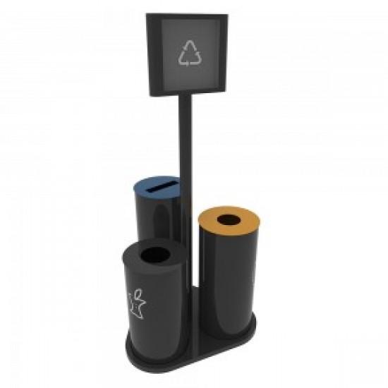 UPPSALA B Cosuri pentru reciclare din metal pentru interior si exterior