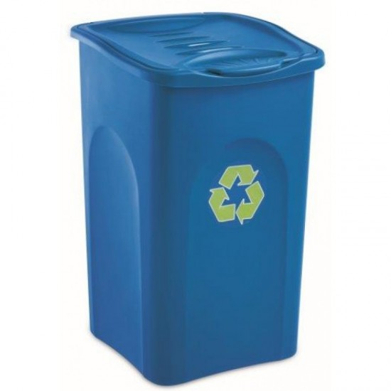 Tomberoane pentru reciclare deseuri 50L, culori: albastru, galben, verde