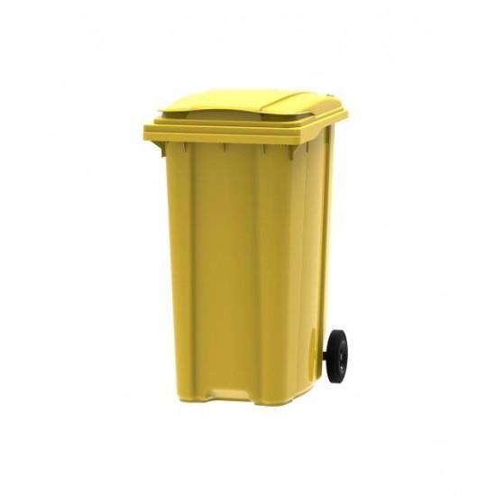 Container din plastic, 360 litri galben