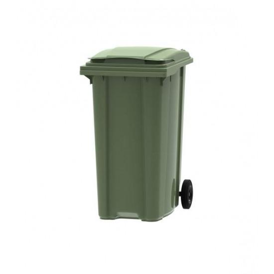 Container din plastic, 360 litri verde